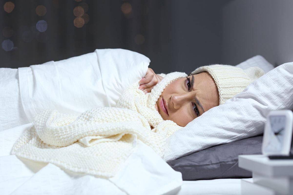 Dormir con frío